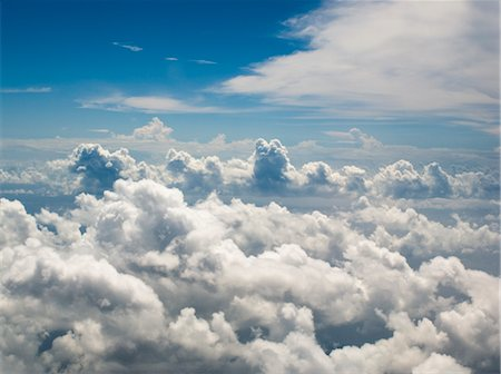 Aerial View of Clouds Over the Pacific Ocean Stock Photo - Rights-Managed, Code: 700-02698384