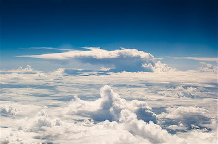 Aerial View of Clouds Over the Pacific Ocean Stock Photo - Rights-Managed, Code: 700-02698385
