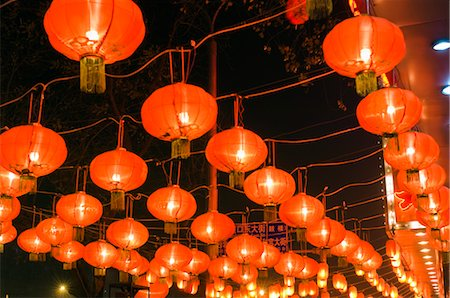 Red Chinese Lanterns in Restaurant at Night, Beijing, China Stock Photo - Rights-Managed, Code: 700-02698381