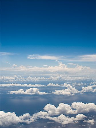 Aerial View of Clouds Over the Pacific Ocean Stock Photo - Rights-Managed, Code: 700-02698382