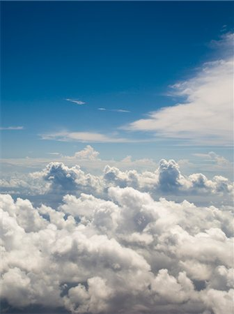 Aerial View of Clouds Over the Pacific Ocean Stock Photo - Rights-Managed, Code: 700-02698383