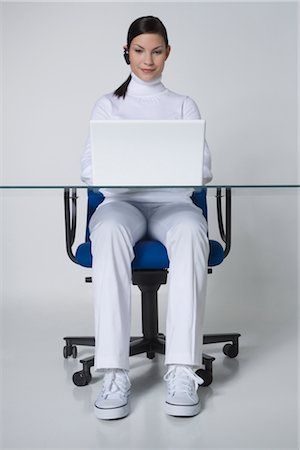 Woman Using Laptop Stock Photo - Rights-Managed, Code: 700-02693763