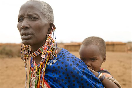 Masai WOman with Child, Kenya Stock Photo - Rights-Managed, Code: 700-02693950