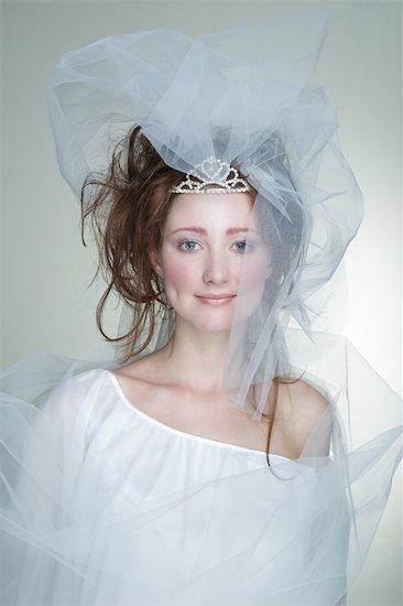 Portrait of Bride Stock Photo - Premium Rights-Managed, Artist: Apolonia, Image code: 700-02701009