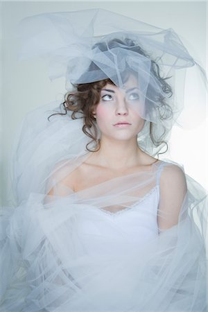 Portrait of Woman Covered in Crinoline Stock Photo - Rights-Managed, Code: 700-02701014