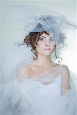 Portrait of Woman Covered in Crinoline Stock Photo - Rights-Managed, Code: 700-02701015