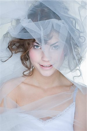 Portrait of Woman Covered in Crinoline Stock Photo - Rights-Managed, Code: 700-02701010
