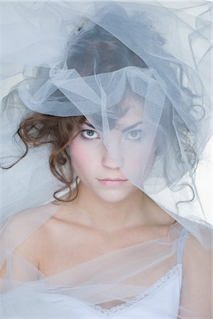 Portrait of Woman Covered in Crinoline Stock Photo - Rights-Managed, Code: 700-02701011