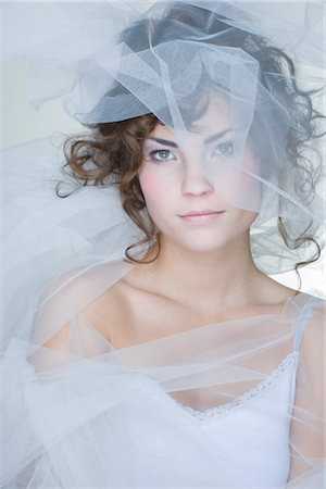 Portrait of Woman Covered in Crinoline Stock Photo - Rights-Managed, Code: 700-02701012