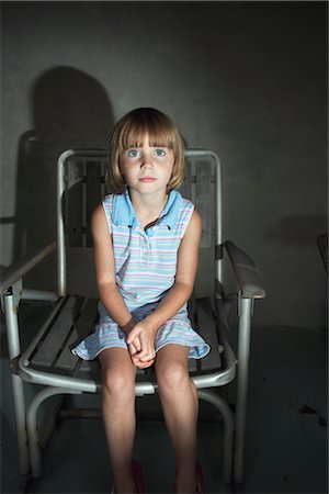 Little Girl Sitting in Lawn Chair Stock Photo - Rights-Managed, Code: 700-02702547