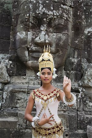Dancer, Bayon Temple, Angkor Thom City, Siem Reap, Cambodia Stock Photo - Rights-Managed, Code: 700-02738488