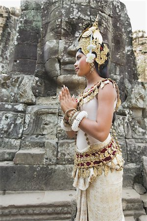 Dancer, Bayon Temple, Angkor Thom City, Siem Reap, Cambodia Stock Photo - Rights-Managed, Code: 700-02738481