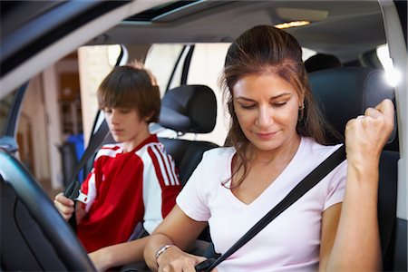 Mom Taking Son to Soccer Game Stock Photo - Rights-Managed, Code: 700-02738851