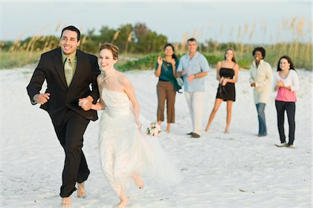 Bridal Party on Beach Stock Photo - Rights-Managed, Code: 700-02757111