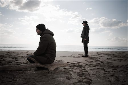 sad lovers break up - Couple on Beach in Winter, Lazio, Rome, Italy Stock Photo - Rights-Managed, Code: 700-02757166