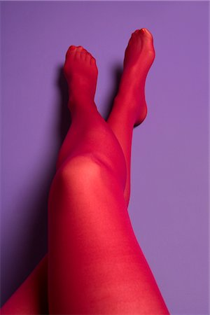 Woman's Legs Clad in Pink Tights Stock Photo - Rights-Managed, Code: 700-02757170