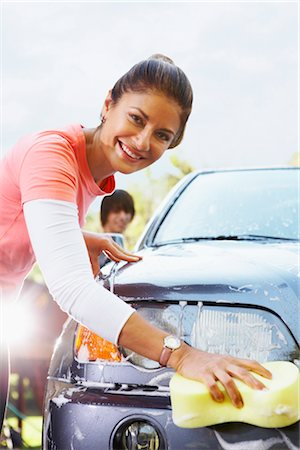 Woman Washing Car Stock Photo - Rights-Managed, Code: 700-02757203