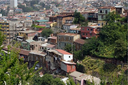 Houses on Hillside, Valparaiso, Chile Stock Photo - Rights-Managed, Code: 700-02757232