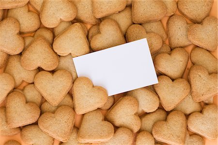 Blank Card in a Pile of Heart Shaped Cookies Stock Photo - Rights-Managed, Code: 700-02801155