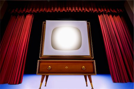 Vintage TV on Theatre Stage Stock Photo - Rights-Managed, Code: 700-02833196