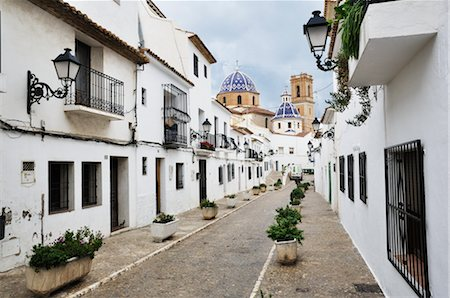 Street in the Old Town of Altea, Costa Blanca, Alicante, Spain Stock Photo - Rights-Managed, Code: 700-02833841
