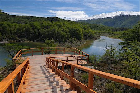 Viewing Platform, Tierra del Fuego National Park, Near Ushuaia, Argentina Stock Photo - Rights-Managed, Code: 700-02886999
