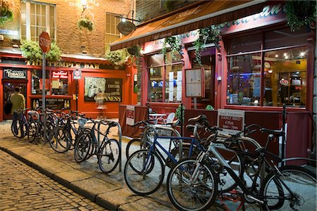european bar building - Temple Bar Pub at Night, Temple Bar, Dublin, Ireland Stock Photo - Rights-Managed, Code: 700-02887065