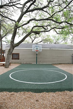 Outdoor Basketball Court Stock Photo - Rights-Managed, Code: 700-02912101