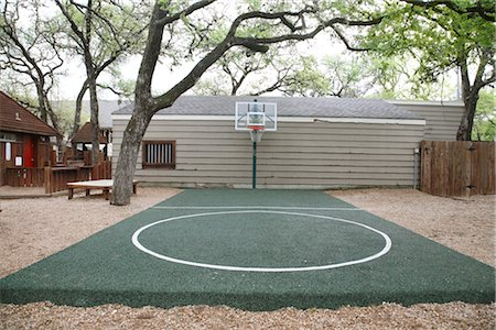 Outdoor Basketball Court Stock Photo - Rights-Managed, Code: 700-02912102