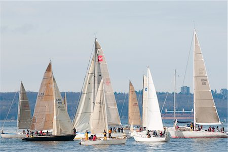 sports and sailing - 41st Annual Southern Straits Classic Silboat Race, Vancouver, British Columbia, Canada Stock Photo - Rights-Managed, Code: 700-02912175