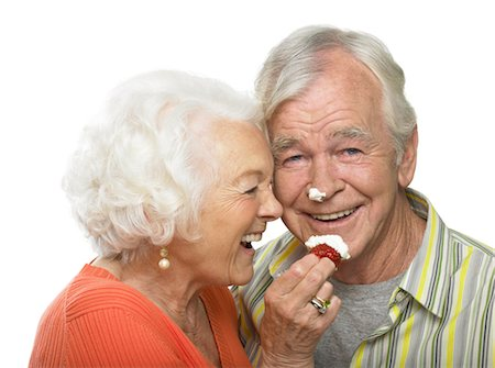Portrait of Couple with Whipped Cream on their Faces Stock Photo - Rights-Managed, Code: 700-02912394
