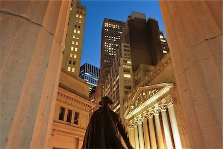 stock exchange building - New York Stock Exchange, Manhattan, New York, New York, USA Stock Photo - Rights-Managed, Code: 700-02912886