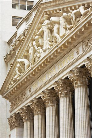 stock exchange building - New York Stock Exchange, Manhattan, New York, New York, USA Stock Photo - Rights-Managed, Code: 700-02912887