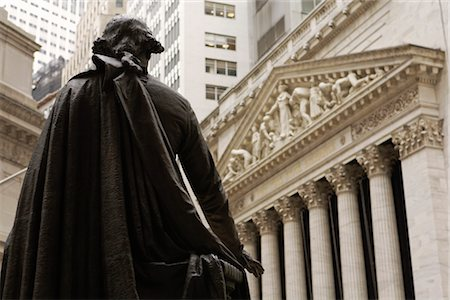 stock exchange building - George Washington Statue, New York Stock Exchange, Manhattan, New York, New York, USA Stock Photo - Rights-Managed, Code: 700-02912889