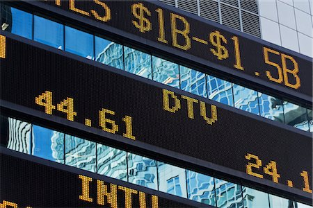 stock exchange building - Trading Board, Times Square, Manhattan, New York, New York, USA Stock Photo - Rights-Managed, Code: 700-02912890