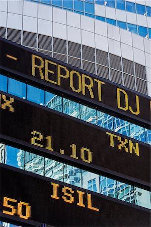 stock exchange building - Trading Board, Times Square, Manhattan, New York, New York, USA Stock Photo - Rights-Managed, Code: 700-02912891