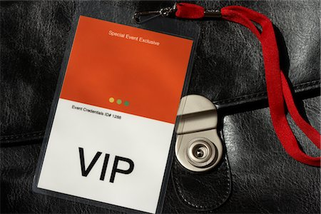 special event - VIP Pass on Leather Briefcase Stock Photo - Rights-Managed, Code: 700-02922877