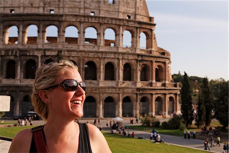 Woman in Front of the Coliseum, Rome, Italy Stock Photo - Rights-Managed, Code: 700-02935395