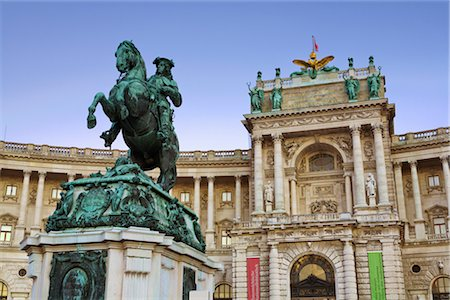 Hofburg Palace and Statue of Prince Eugene of Savoy, Vienna, Austria Stock Photo - Rights-Managed, Code: 700-02935518