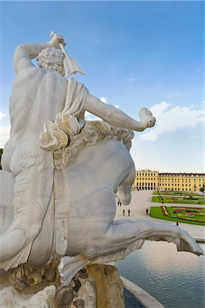 Neptune Fountain, Schonbrunn Palace and Gardens, Vienna, Austria Stock Photo - Rights-Managed, Code: 700-02935537