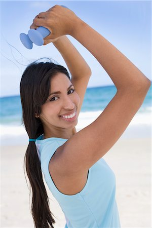 Portrait of Woman Exercising Stock Photo - Rights-Managed, Code: 700-02935555