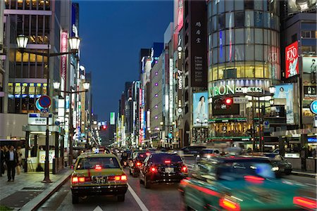 Ginza District, Tokyo, Japan Stock Photo - Rights-Managed, Code: 700-02935606