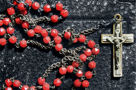 religious cross nobody - Close-up of Rosary Laying on Bible Stock Photo - Rights-Managed, Code: 700-02935835