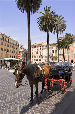Horse-Drawn Carriage, Piazza di Spagna,Rome,Italy Stock Photo - Rights-Managed, Code: 700-02943365