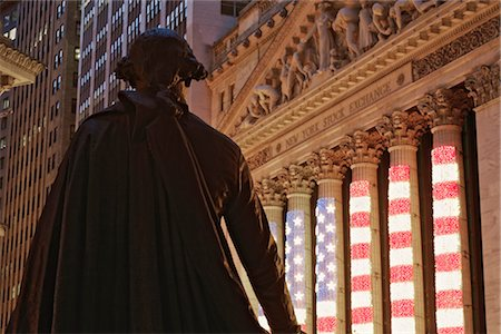 stock exchange building - George Washington Statue and New York Stock Exchange, Manhattan, New York, New York, USA Stock Photo - Rights-Managed, Code: 700-02957738