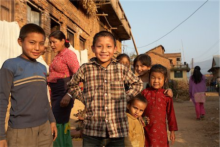 Group of Kids in Chapagaon, Nepal Stock Photo - Rights-Managed, Code: 700-02957841