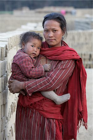 Mother and Baby in Chapagaon, Nepal Stock Photo - Rights-Managed, Code: 700-02957843