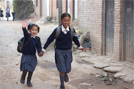 School Children in Chapagaon, Nepal Stock Photo - Rights-Managed, Code: 700-02957855