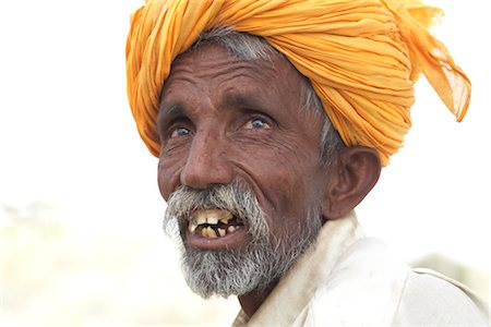 Portrait of Man, Thar Desert, Rajasthan, India Stock Photo - Rights-Managed, Code: 700-02958002