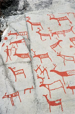 prehistoric - Prehistoric Rock Carvings, Alta, Norway Stock Photo - Rights-Managed, Code: 700-02967617
